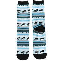 Lazy One Women's Winter Moose Crew Sock