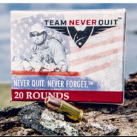 Team Never Quit 357 Mag 125 Grain Frangible HP Reduced Ricochet Handgun Ammo (20)