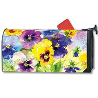 MailWraps Mixed Pansies Magnetic Mailbox Cover