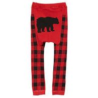 Doodle Pants Toddler Boys' Black Bear Plaid Legging