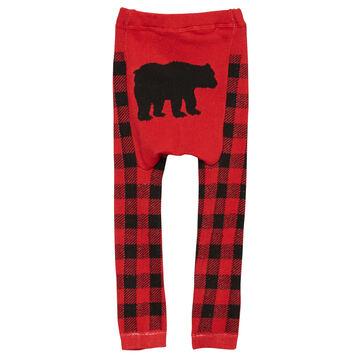 Doodle Pants Toddler Boys Black Bear Plaid Legging