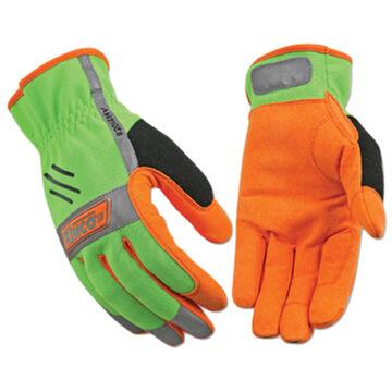 Kinco Mens KincoPro Hi-Vis Unlined Driver Easy-On Work Glove