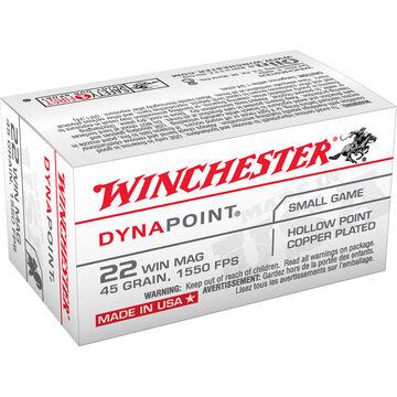 Winchester DynaPoint 22 Winchester Mag 45 Grain CPHP Rimfire Ammo (50)