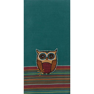 Kay Dee Designs Spice Road Owl Applique Tea Towel