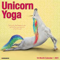 Willow Creek Press Unicorn Yoga 2021 Wall Calendar
