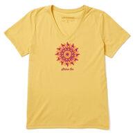 Life is Good Women's Shine On Cool Vee Short-Sleeve T-Shirt