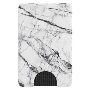 PopSockets PopWallet Faux White Marble Card Holder