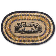 Capitol Earth Braided Oval Welcome Loons Rug
