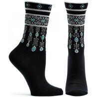 Ozone Women's Bejeweled Cuff Sock