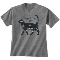 Earth Sun Moon Trading Men's Feline Petting Chart Short-Sleeve T-Shirt