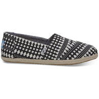 TOMS Women's Black Diamond Espadrille Shoe