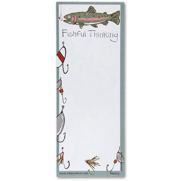 Hatley Little Blue House Fishful Thinking Magnetic List Notepad