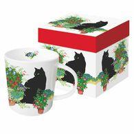 Paperproducts Design Black Cat Flower Pots Gift-Boxed Mug