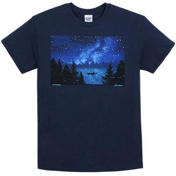 Liberty Graphics Mens Night Kayak Short-Sleeve T-Shirt