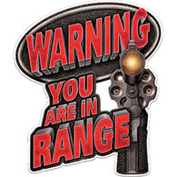Rivers Edge You're In Range Car Magnet