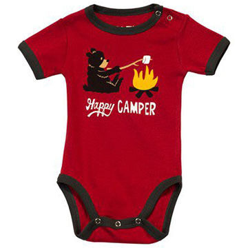 Lazy One Infant Boys' & Girls' Happy Camper Creeper