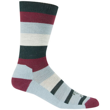 Farm to Feet Mens Rutherford College Lightweight Stripe Crew Sock