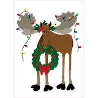 Allport Editions Deck the Moose Boxed Holiday Cards