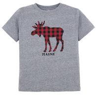 Artforms Toddler Checkered Moose Short-Sleeve T-Shirt