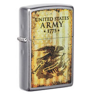 Zippo U.S. Army Street Chrome Windproof Lighter