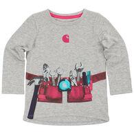 Carhartt Infant/Toddler Girls' Tool Belt Long-Sleeve T-Shirt