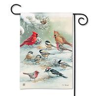BreezeArt Winter Bird Feeding Garden Flag