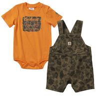 Carhartt Infant Boy's Camo Shortall Set, 2-Piece