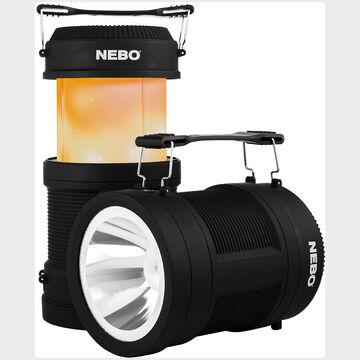 Nebo Big Poppy 300 Lumen Rechargeable Flashlight and Lantern w/ Power Bank