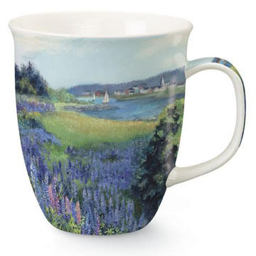 Cape Shore Lupine Meadow Harbor Mug