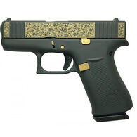 "Glock 43X Gold Scroll FS 9mm 3.4"" 10-Round Pistol"