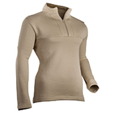 Indera Mills Mens Military Weight Fleeced Polyester 1/4-Zip Baselayer Top