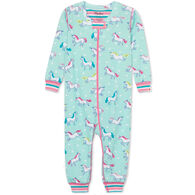 Hatley Infant Girl's Prancing Unicorns Organic Cotton Long-Sleeve Coverall