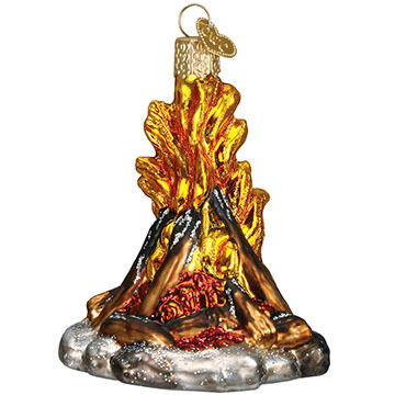 Old World Christmas Campfire Ornament