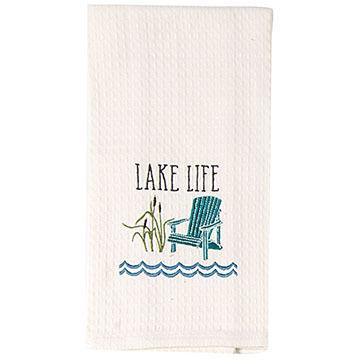 Kay Dee Designs Lake Life Waffle Towel