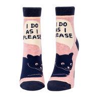 Blue Q Women's I Do As I Please Ankle Sock