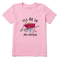 Life is Good Women's I'll Be In My Office Crusher Vee Short-Sleeve T-Shirt