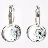 Eye Catching Jewelry Women's Dandelion Button Earring
