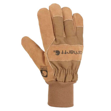Carhartt Mens Waterproof Breathable Suede Knit Cuff Work Gloves
