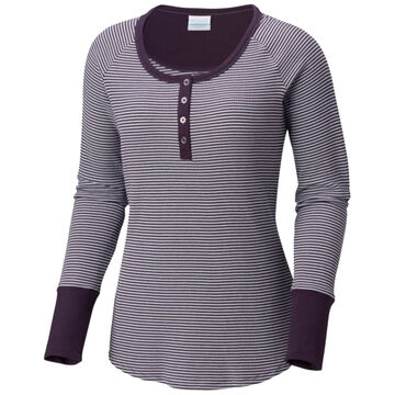 Columbia Womens Along The Gorge Thermal Henley Long-Sleeve Shirt