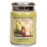 Village Candle Large Glass Jar Candle - Ginger Pear Fizz