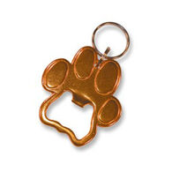 Bison Designs Paw Print Bottle Opener Keychain