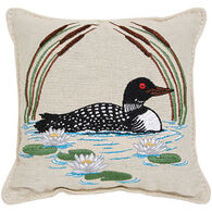 "Paine Products 6"" x 6"" Embroidered Loon Balsam Pillow"