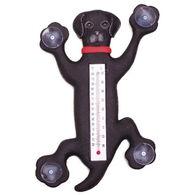 Bobbo Climbing Black Lab Window Thermometer
