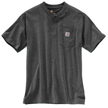 Carhartt Mens Big & Tall Short-Sleeve Henley Shirt