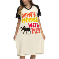 Lazy One Women's Don't Moose With Me V-Neck Nightshirt