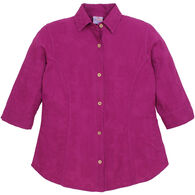 Sea Breeze Women's Embroidered Classic Button Up 3/4-Sleeve Shirt
