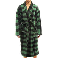 Trail Crest Men's Romanta Coral Fleece Plaid Robe