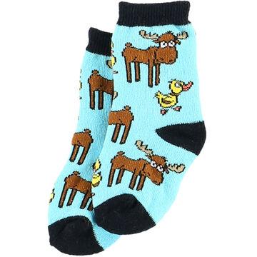Lazy One Infant Boys Duck Duck Moose Sock