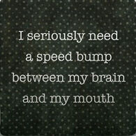 Paisley & Parsley Designs Speed Bump Brain Mouth Marble Tiles Coaster