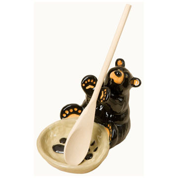 Big Sky Carvers Bear Spoon Holder, 2-Piece